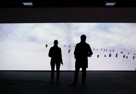 Interactive Snowstorm Installations