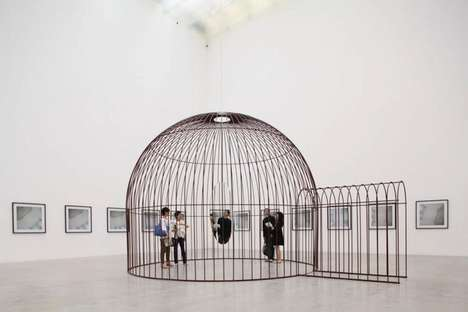 Reflective Cage Sculptures