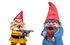 Grotesque Zombie Gnomes - These Zombie Garden Gnomes Should be a Part of Every Garden