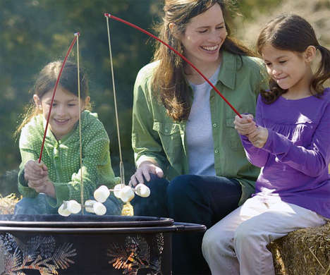 Campfire Cooking Rods - Making Toasted Marshmallows is Easier with Fireside Fishing Pole