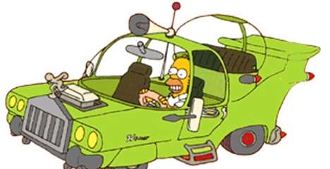 Cartoon Car Recreations - Fans of the Simpsons Will Appreciate the Creation of The Homer Automobile