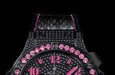 Blinged Out Black Watches - This Hublot Watch Collection is Glamorous and Diamond-Encrusted
