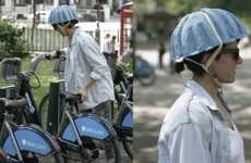 Newspaper-Based Bike Helmets - The Paper Pulp Helmet is Designed to Make Bike-Sharing Safer