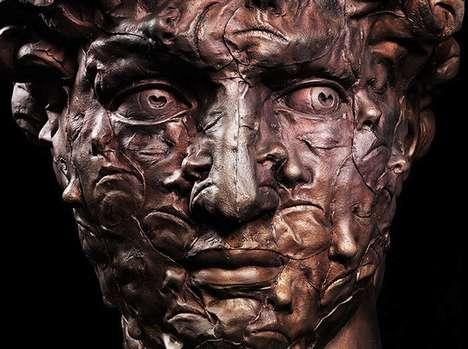 Portrait-Infused Classical Sculptures
