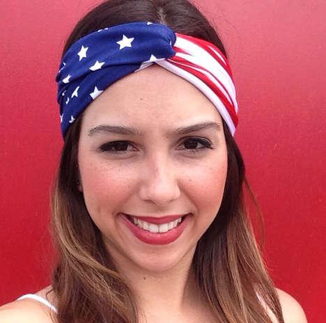 Festive American Flag Headpieces
