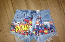 Sensational Superhero Shorts - These Superman Comic Book Shorts are Made from High-Waisted Denim