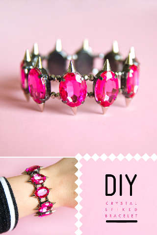 Spiked DIY Jewelry - This 'Sprinkles in Springs' Crystal Bracelet Has Juxtaposed Jewels