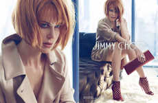 Sultry Red-Head Footwear Ads - The Jimmy Choo Fall Campaign Stars a Seductive Nicole Kidman