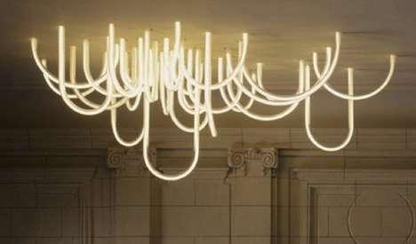 Slinking LED Chandelier