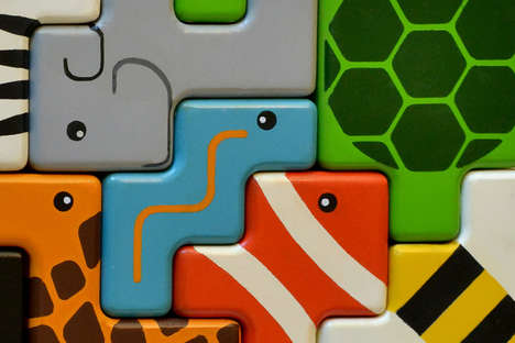 Critter Puzzle Blocks - Children Learn to Play Together with Interactive Animal Stackers