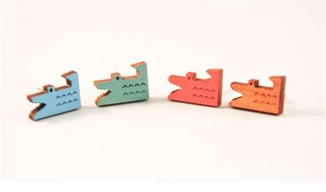 These Handmade Wooden Studs are Intricate Statement Pieces