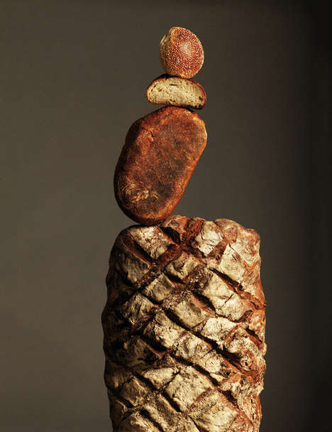 Barely Balanced Bread Photography