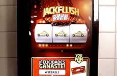 Pee-Powered Slot Machines - The Jackflush Urinal Slot Machine Rewards Men for Flushing with Beer