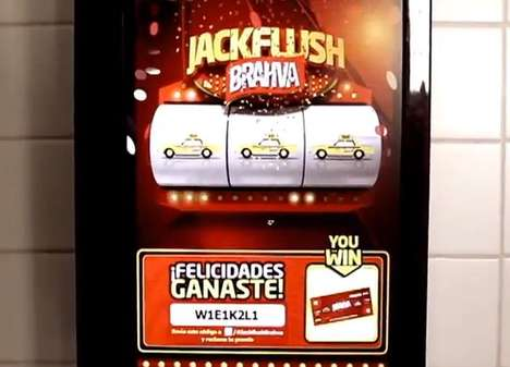 The Jackflush Urinal Slot Machine Rewards Men for Flushing with Beer