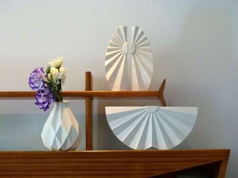 Origami-Inspired Vases