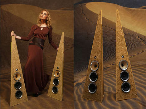 Sandy Desert-Inspired Speakers