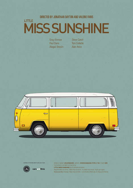 Iconic Movie Car Posters