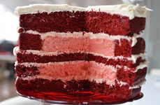 Marriage Equality Cakes - The Inside of This Red Velvet Cake Looks Like the Equality Sign