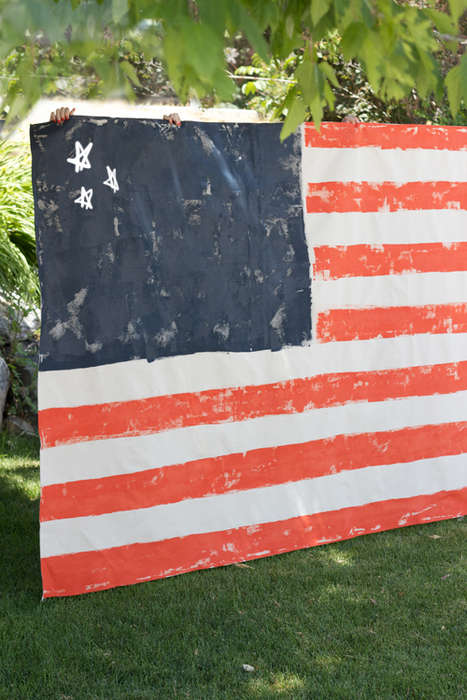 DIY American Flag Blankets