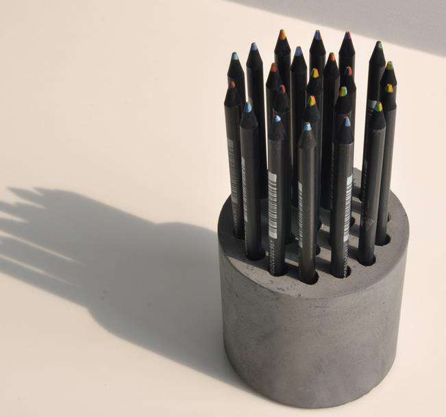 DIY Cement Pencil Holders