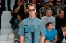 Haute Patchwork Collections - The Dior Homme S/S 2014 Line Features Chic Color Blocking Designs