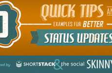 Social Media Message Infographics - Discover 10 Tips and Examples for Improved Status Update Ideas