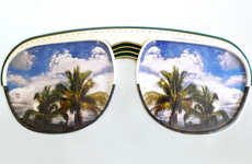 Pop Culture-Painted Shades - Jade Foures-Varnier Fills in Stylish Retro Sunglasses with Scenery