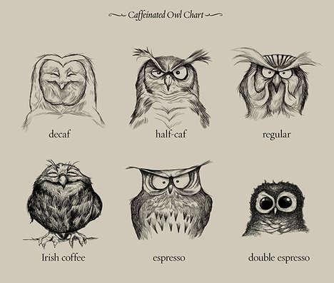 Caffeinated Owl Illustrations