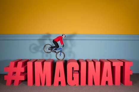 Surreal Artistic Biking Stunts