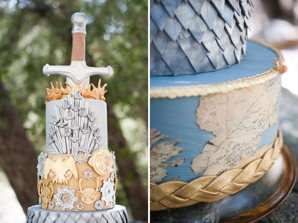 Pleasant Fantastical Medieval Cakes Game Of Thrones Wedding Funny Birthday Cards Online Overcheapnameinfo