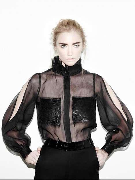 Edgy Sheer Fashion