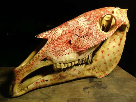 Striking Patterned Skull Art