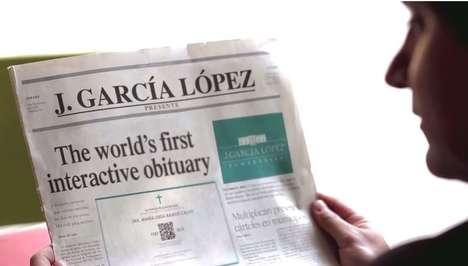 Animated Obituary Ads