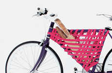 Stylish Pink Bicycle Storage - This Net-Style Bike Storage Design is Easy to Assemble