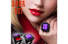 Stylishly Wearable Lipstick Rings - The Anna Sui Rouge Lip Balm Rings are Wearable Jewelry