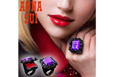 Stylishly Wearable Lipstick Rings