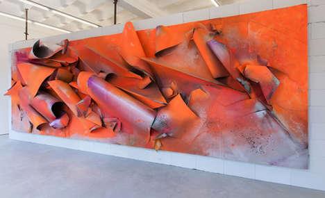 Vibrant Wreckage Sculptures