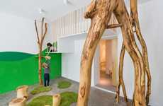 Nature-Integrated School Designs - This German Kids School Design Has Trees and Textured Salt Walls