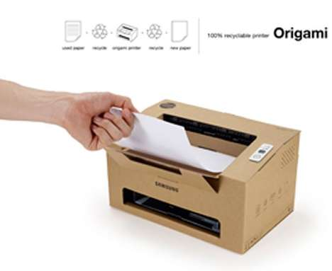 Eco Cardboard Printers - The 'Origami' Laser Printer is 100 Percent Recyclable