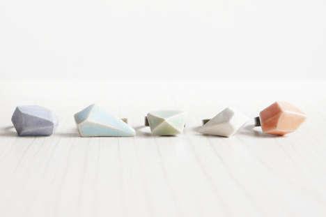 Geometric Ceramic Rings