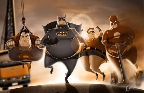 Amusingly Rotund Superheroes