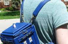 British Sci-Fi Bookbags - The Tardis Backpack Can Hold Snacks and Travel Through Times