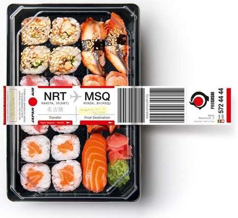 Airport-Inspired Sushi Branding