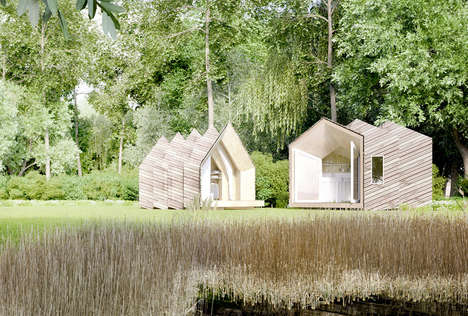 DIY Portable Wooden Sanctuaries - The Hermit Houses Offer a Remarkable Way to Enjoy Nature