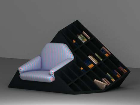 The Tatik Bookshelf Armchair Functions Puts Comfort First