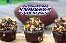 Chocolatey Football Confections - The Snickers Superfan Cupcakes are the Perfect NFL Treat