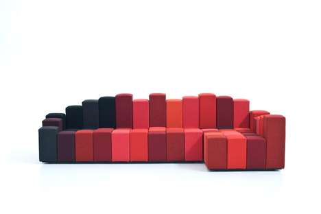 Geometric Customizable Sofas - The Ron Arad Do-Lo-Rez is a Blocked Masterpiece