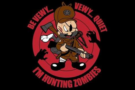 Undead Cartoon Spoofs - Elmer Fudd Has Changed His Game of Choice from Rabbits to Zombies