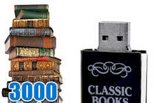Literature-Loaded Memory Keys - The USB Digital Library Comes Packed with Over 3000 Books