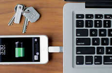 Key-Sized Gadget Connectors - The Tiny Kii Device Power Charger is Convenient to Carry Around